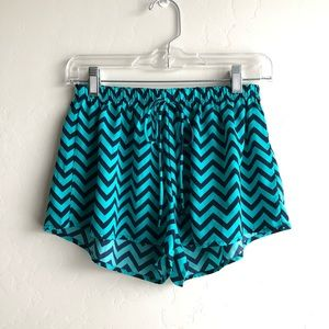 Blue pajama shorts with tie string